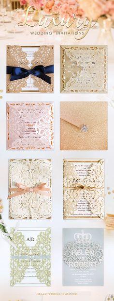 Find Custom Luxury Wedding Invitations at ElegantWeddingInvites! #weddinginvitations #elegantweddinginvites