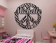 Vinyls Products And Stripes On Pinterest - Zebra stripe wall decals