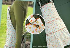 An adorable and yet very practical apron. Neck ties adjust with fun overall buckles.