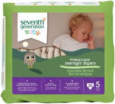Seventh Generation Overnight Diapers  Size 5  20 ct *** See this great product.