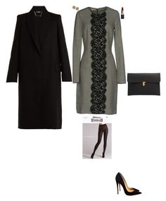 """""""Dinner with politicians"""" by stylev ❤ liked on Polyvore featuring Michael Kors, Clé de Peau Beauté, Alexander McQueen, Wolford, Effy Jewelry and Christian Louboutin"""