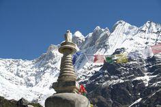 Prayer flags in Langtang National Prrk, Nepal