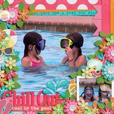 Layout using {Make A Splash} Digital Scrapbook Kit by Aprilisa Designs available…