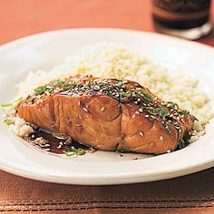 Bourbon-Glazed Salmon: Fish is rich in protein and omega-3 fatty acids, so try these great recipes and eat up!