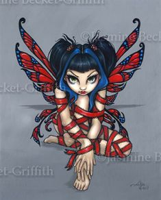 Gothic Fairy Picture:  Red Ribbon Fairy by Jasmine Becket-Griffith