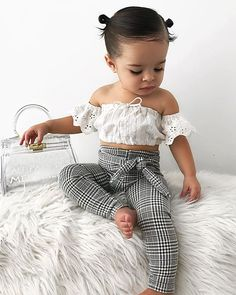 Toddler Kids Baby Girls Clothes set Summer Off Shoulder Kids outfits Baby Girl Clothes bab baby clothes Girls kids Outfits set Shoulder Summer Toddler Cute Baby Girl Outfits, Kids Outfits Girls, Toddler Girl Outfits, Cute Baby Clothes, Baby Girl Clothes Summer, Toddler Girls, Babies Clothes, My Baby Girl, Preppy Baby Girl