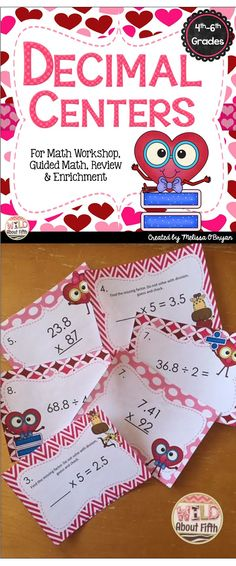 Just in time for Valentine's Day! These Decimal Centers will keep your Math…