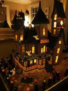 Haunted Gingerbread Mansion 2011  (I don't know if I should put this with Halloween food, Halloween decorations, or both....)