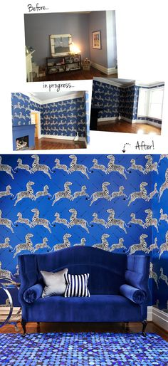 absolutely love the zebra wallpaper! Interiors by Stacey Cohen Blog