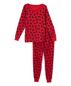 38d192701698 Leveret Red Moose Pajamas - Women