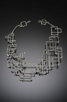 Portfolio | Yuri Tozuka Pipe Necklace, 2013 Material: Sterling Silver, 22k Yellow Gold photos by Dean Powell