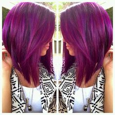 Image result for fuschia purple hair
