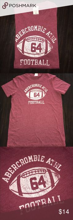 Sale ⚠️ ABERCROMBIE & FITCH football shirt men med ABERCROMBiE & FITCH. short sleeve tee shirt. men's medium. Distressed Large logo on front. Never been worn. Bundle with another item for a discount! Abercrombie & Fitch Shirts Tees - Short Sleeve