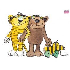 Nice Die Wandtattoo Motive werden anhand von original Illustrationen des deutschen Kinderbuchautors Janosch erstellt Die Motive Janosch Tigerente Forsch