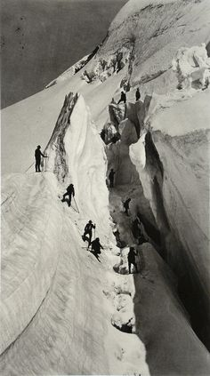 Frères Bisson, La crevasse, 1832. From All Things