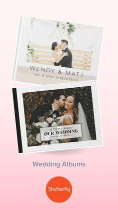 Shutterfly Personalized Wedding Photo Albums Cake Table Decorations, Wedding Aisle Decorations, Wedding Themes, Wedding Centerpieces, Wedding Favors, Diy Wedding Inspiration, Creative Wedding Ideas, Wedding Photo Albums, Wedding Photos