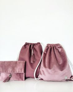 Rosé #frachella #handmade #backpack #clutch #rose #velvet #fashion #fabric #musthave