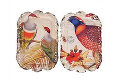 Liked the one on the right S/2 Metal Bird Trays on One Kings Lane (unfort. they sold out!)