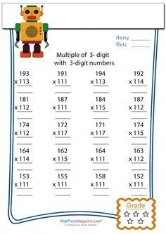 math worksheet : multiplication worksheet  3 digit by 4 digit  4  : Advanced Multiplication Worksheets