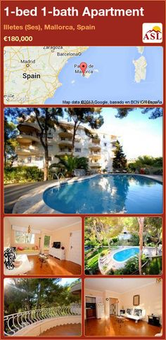1-bed 1-bath Apartment in Illetes (Ses), Mallorca, Spain ►€180,000 #PropertyForSaleInSpain