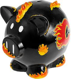 Calgary Flames Thematic Piggy Bank