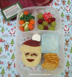 Bento School Lunches: Bento Lunch: Santa bento with Lunchbox Love