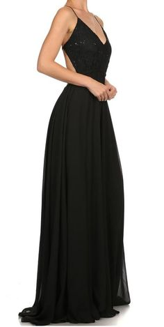 Evening Gowns, Sassy, Ball Gowns, Chiffon, Bead, Neckline, V Neck, Elegant, Formal Dresses