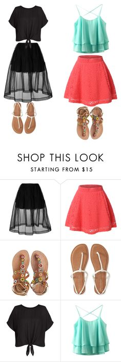 """""""Untitled #5"""" by sharonb5578 on Polyvore featuring Simone Rocha, LE3NO, Laidback London, Aéropostale and New Look"""
