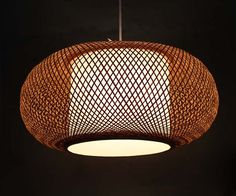 Bamboo and Parchment Chandelier Handmade Art Pendant Lighting 110-240V/50-60Hz,Natural Bamboo Colour
