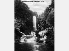 Historische Bilder von den Wasserspielen im Bergpark