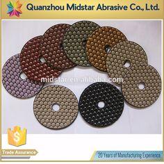 """4"""" Dry Granite Diamond Polishing Pads for Angle Grinder"""
