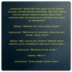Lachlain and Emma (A Hunger like no Other by Kresley Cole -- Immortals After Dark)