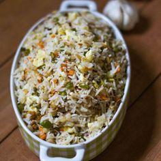 Indian style Veg Burnt Garlic Fried Rice Recipe.