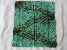 Free Knitting Pattern - Dishcloths & Washcloths : Small Spiral Lace Cloth