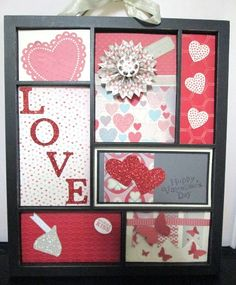 This is my Valentines insert for the Stampin' Up! Printer tray (frame). Everyone loved it! THey have magnets on the back so you can switch the inserts out for each holiday. Check out my Pinterest board: Lisa Bowell's Printer Tray Inserts, for more ideas. Follow my boards for updated cards and techniques that you will LOVe! Made by Lisa Bowell-Stampin' Up! Demonstrator @ lisastamps.com