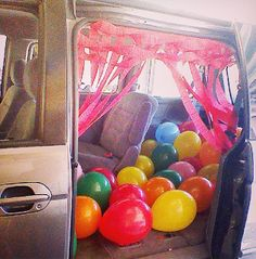 """Last Day of School """"Party Car"""" i am so doing this.one day if I pick up my nieces from school! School Car, End Of School Year, School Stuff, High School, Pick Up, School's Out For Summer, Summer Fun, Hello Summer, Summer Ideas"""