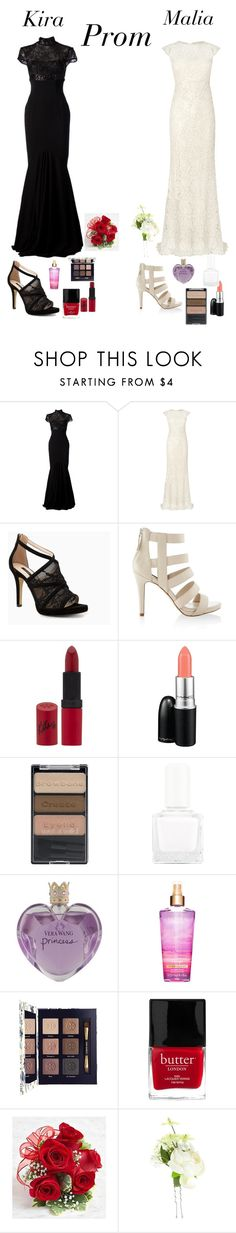 """""""Kira and Malia prom dresses"""" by whitelipspaleface ❤ liked on Polyvore featuring Alex Perry, Phase Eight, MANGO, White House Black Market, Rimmel, MAC Cosmetics, Wet n Wild, tenoverten, Vera Wang and Tory Burch"""
