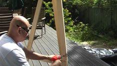 How To Make A Wood Tripod Easel - WoodWorking Projects & Plans Woodworking Bed, Woodworking Projects Plans, Woodworking Videos, Make Your Own, Make It Yourself, How To Make, Floor Easel, Bed Frame Plans, Art Easel