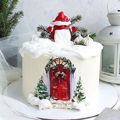 there are in these winter cakes ❄️- ¡ Cuanto talento ! hay en estos pasteles de invierno ❄️ How much talent! there are in these winter cakes ❄️ - Christmas Wedding Cakes, Christmas Cake Designs, Christmas Cake Decorations, Fall Wedding Cakes, Holiday Cakes, Christmas Dishes, Christmas Sweets, Christmas Baking, New Year's Cake