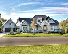 Browse all floor plans designed by Starr Homes for our custom homes in Kansas City. Dream House Exterior, Dream House Plans, House Floor Plans, Big Houses Exterior, Ranch Exterior, Exterior Homes, Luxury House Plans, Dream Home Design, My Dream Home