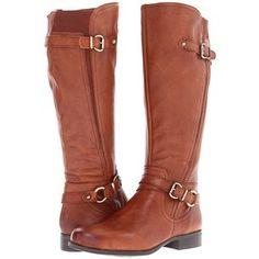 Naturalizer Juletta Wide Calf Women's Zip Boots, Brown