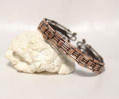men's bracelet,copper bracelet,wire wrapped bracelet,cuff bracelet,mens jewelry,wire wrapped jewelry handmade,gifts for men by BeyhanAkman on Etsy