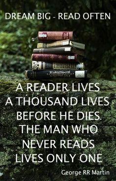 Dream BIG - Read OFTEN!  #books #reading #susanwiggs