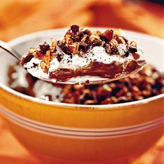 Chocolate Cookie Pudding  Earn your Girl Scout Gold Award with this 5-star cookie pudding recipe. Use Tagalongs to make chocolate peanut butter pudding, Do-Si-Dos for oatmeal peanut butter pudding, or Thin Mints for chocolate mint pudding.