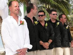 Grooms and Groomsmen Attire (very causal and cool for the hot day!)