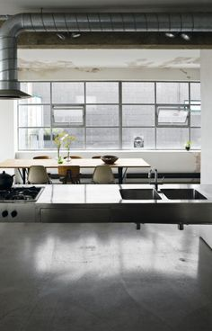 An industrial loft in London {old sewing factory}