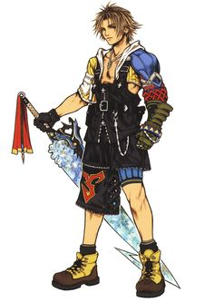 Week 10 - Final Fantasy X - Concept Art Mon - Tidus
