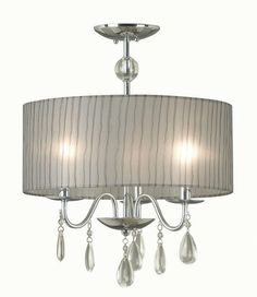 "Kitchen- Menards -Danube 16"" 3 Light Chrome Pendant"