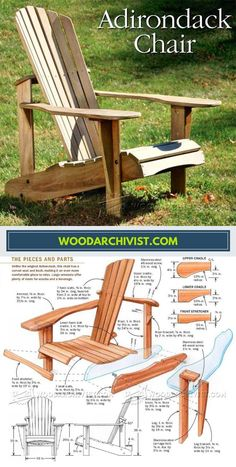 DIY Adirondack Chair - Outdoor Furniture Plans and Projects | WoodArchivist.com