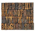 letters and numbers in vintage type - letters and numbers in...